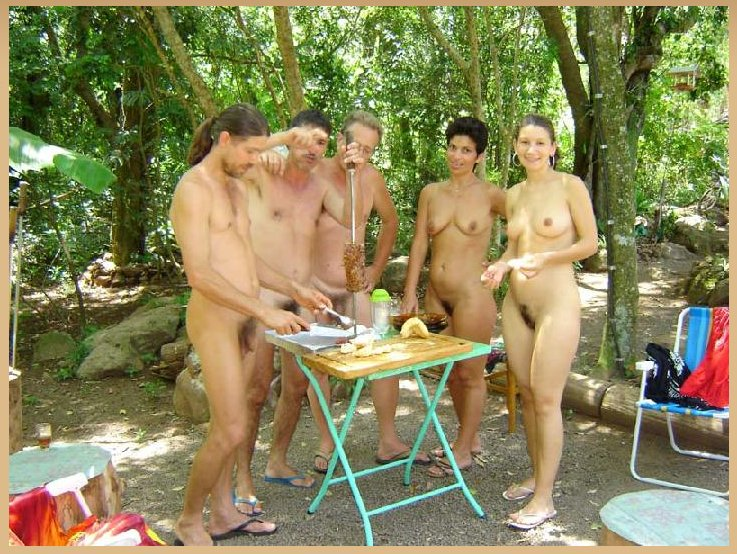 Hot, nude camp nature