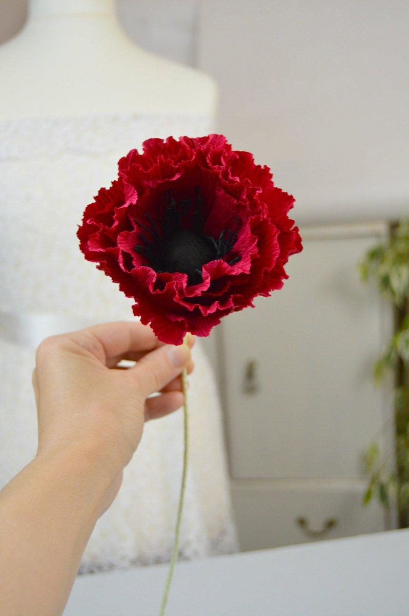 Sigitita On Twitter Crepe Paper Popies Wedding Paper Poppy Flowers