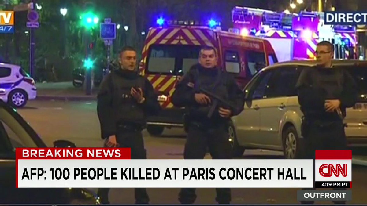 According to AFP, around 100 people were killed at #Paris concert hall https://t.co/JvUrm43ygt