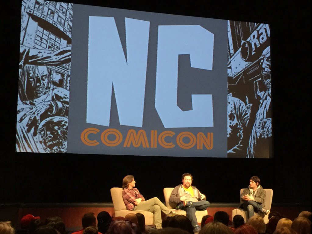 """Inspiration is overrated. You have to just sit down and grind through it."" @gerardway on writing.  #nccomicon2015 https://t.co/rzxxe8WYUY"