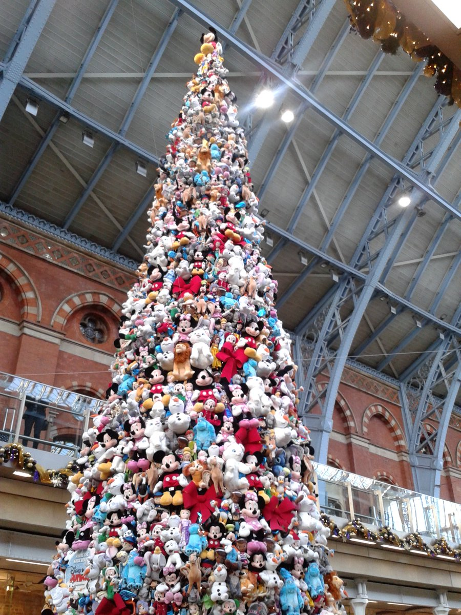 tina hodgkinson on twitter theres a disney themed christmas tree stpancrasint this year httpstcovellhky8on - Disney Themed Christmas Decorations