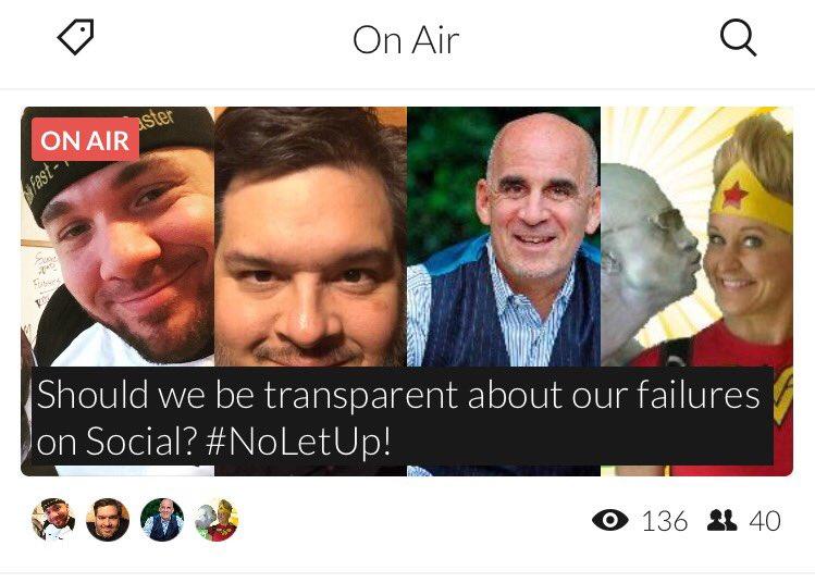 Glad 2 share on #leaders being transparent  #NoLetUp! w/ @iSocialFanz @TedRubin https://t.co/2b4rc3em85 #blab https://t.co/xXJNG51nPL