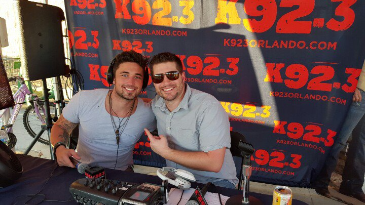 Look who stopped by today @Michaelraymusic show tonight @HOBOrlando @K923Orlando https://t.co/q9YomL96kw