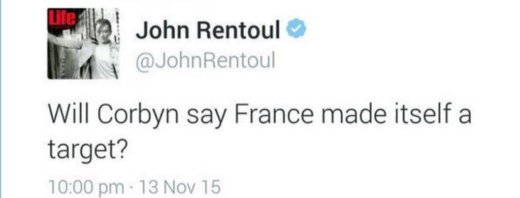 Independent's John Rentoul deletes this tweet about Jeremy Corbyn. I bet he doesn't want people to see it. #SHARE https://t.co/AjP3QpfRCd