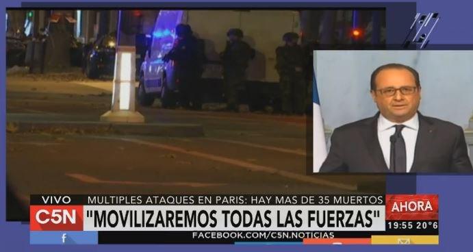 """#AHORA: """"El estado de emergencia es para todo el territorio. Cerraremos las fronteras"""", dice Hollande https://t.co/ztwtbRgvjd"""