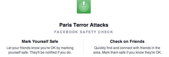 Paris Terror Attacks sono basito dalla inquietante velocità di FB… https://t.co/DsSmqeIRD1