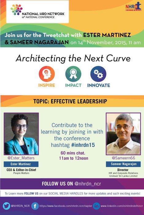 @Vikbec @_Kavi @Anand__Pillai @muniannaa  Pls Join #inhrdn15 tweetchat with @Ester_Matters & @sameern66 Pls RT https://t.co/2ufTApg9Df