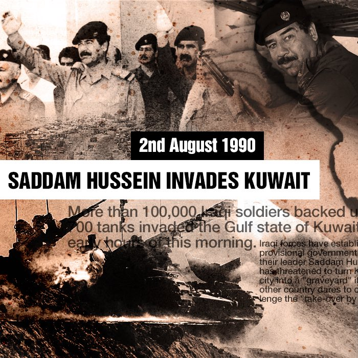 saddam hussein and the invasion of kuwait It is 25 years since the start of the first gulf war, when a coalition of allies, led by the us, fought the iraqi army after it invaded kuwait the brutal iraqi.