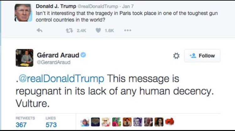 France's ambassador to the US puts Trump in his place. https://t.co/ypCD8HQr30