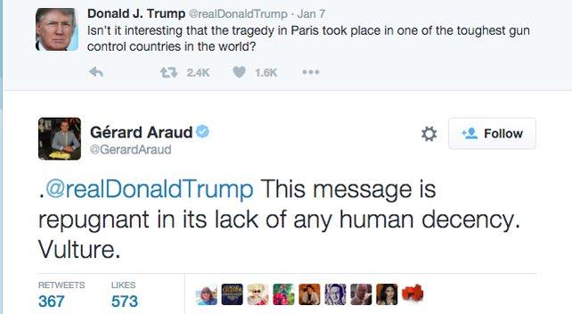 The French Ambassador to the U.S. Responds to a Trump tweet regarding #ParisAttacks  @NickKristof https://t.co/BdJCzbwB7l