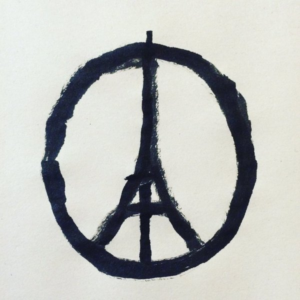 My heart goes out to Paris tonight. Let there be #PeaceforParis and #PeaceForTheWorld (Image by @jean_jullien) https://t.co/pb3dJEN4ag