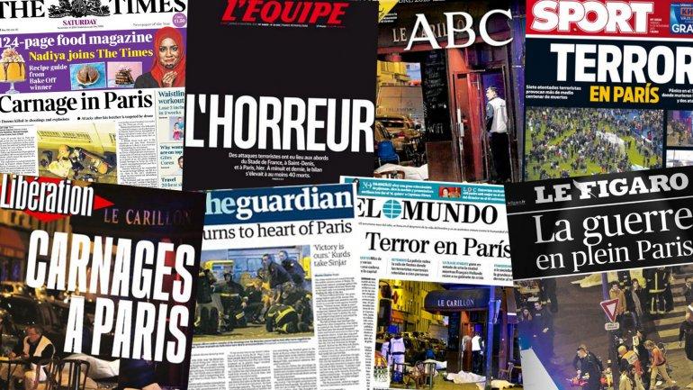 I titoli dei giornali di tutto il mondo sui fatti di Parigi