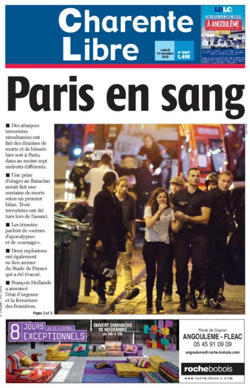 Paris en sang une charente libre for Paris libre
