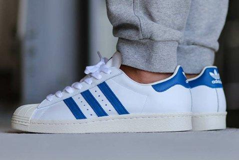 Adidas Superstar Blancas Y Celestes