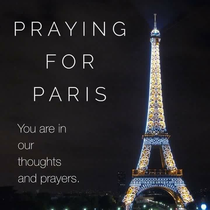 Stay strong #Paris. The entire world mourns with you in these horrific attacks! #ParisAttacks
