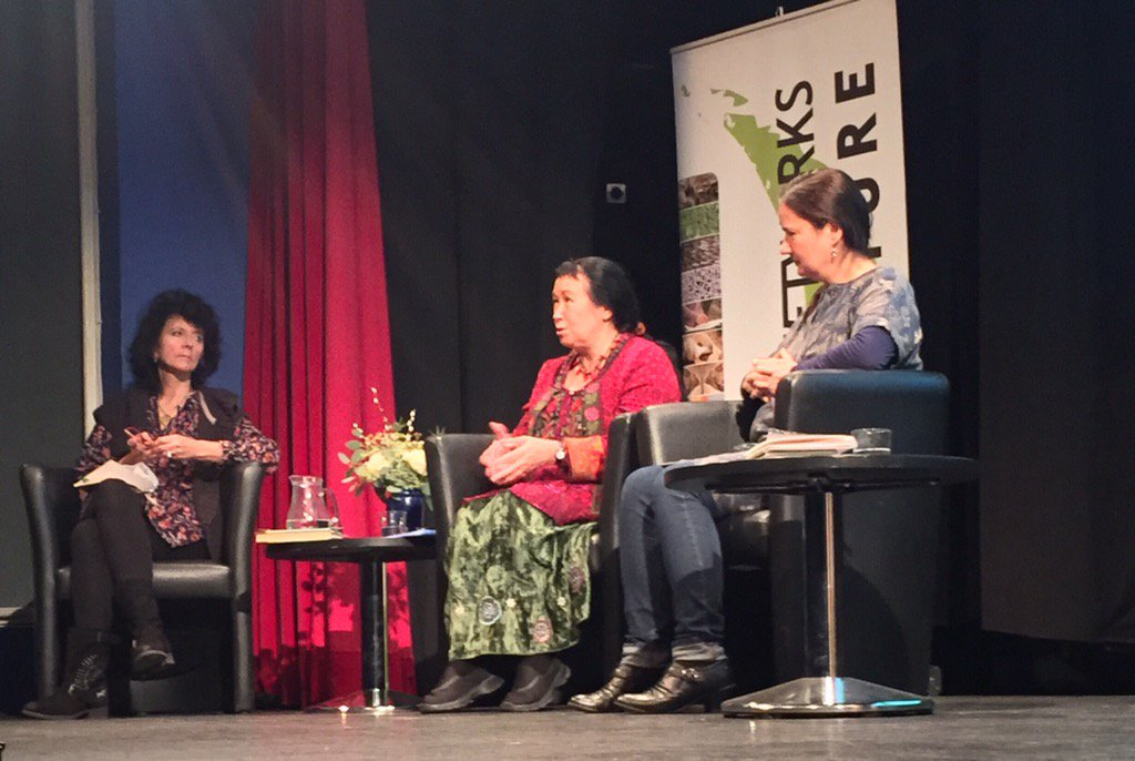 Discussion on poetry at @networks4nature with @ruthpadel @pascalepoet and @JoShapcott https://t.co/rBGD21WFjp