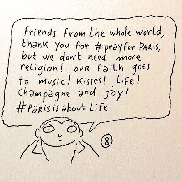 Reactie #CharlieHebdo op #parisattack #ParisShooting #ParisisaboutLife #Paris #Parijs https://t.co/gtURM7Sr3B
