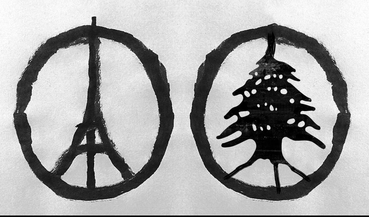 K Lab On Twitter I Made A Symbol For Lebanon Too Parisattacks Beirutattacks Peace Tco FGMosHhiIP