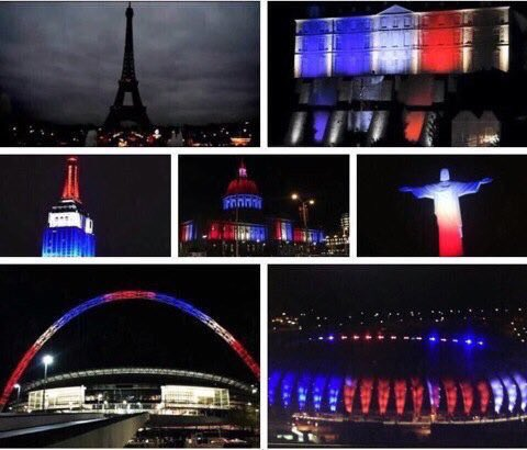 The world showing solidarity following the #ParisAttacks https://t.co/E9TFgAFUlQ
