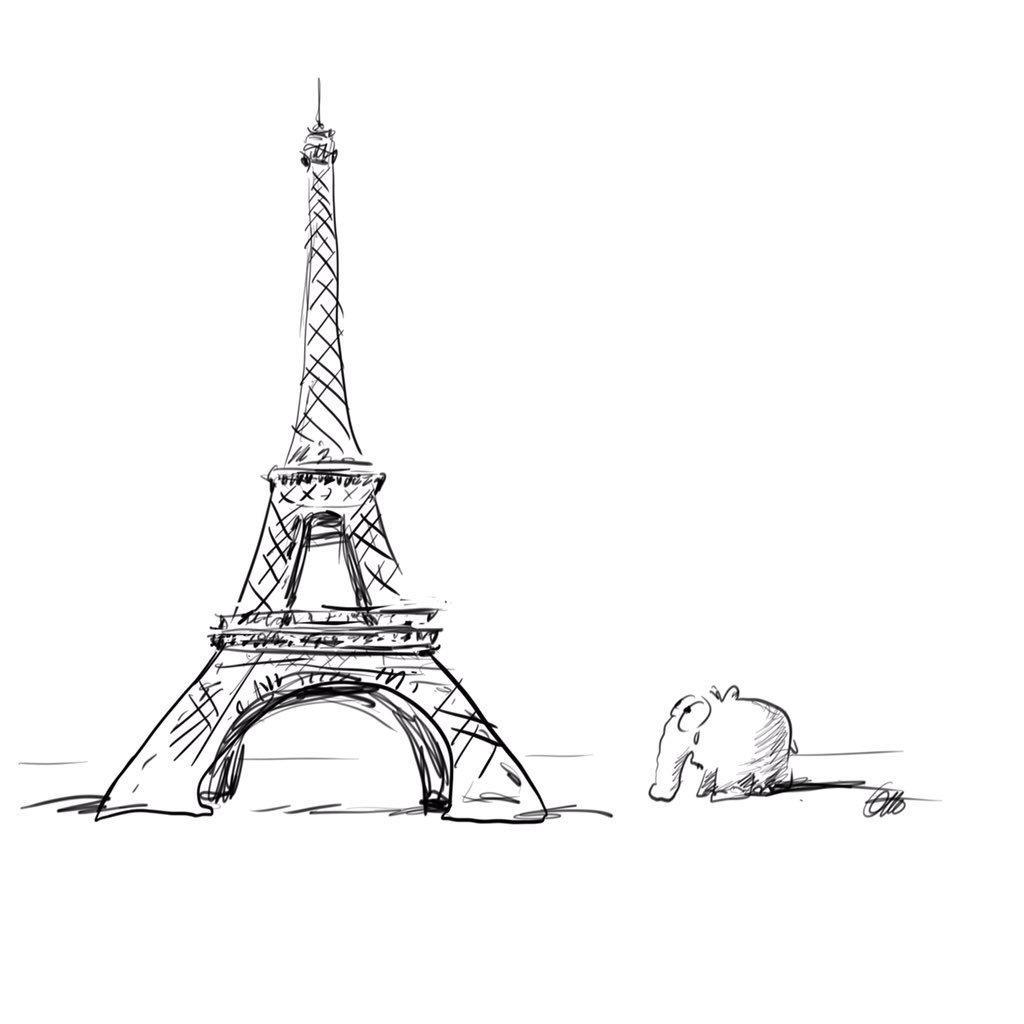 Новым, картинки эйфелевой башни карандашом для срисовки