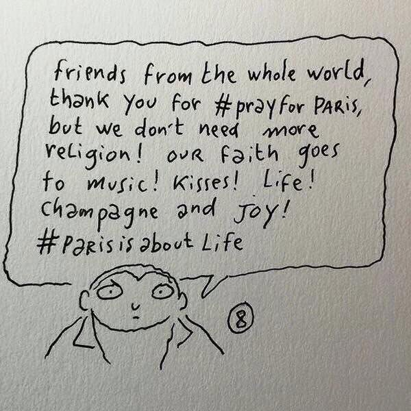 By Charlie Hebdo cartoonist #JoannSfar #Paris