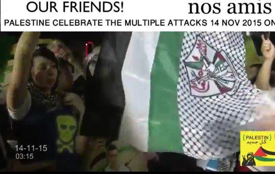 "@RealJamesWoods @DirtyUnkuls ""Palestinians"" celebrate #ParisAttack https://t.co/6bgt7jAp6I"
