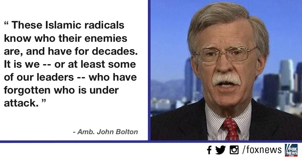 .@AmbJohnBolton: Three important lessons world must learn from #Paris attacks https://t.co/P6oGWnwTmw https://t.co/gttI4yScR2