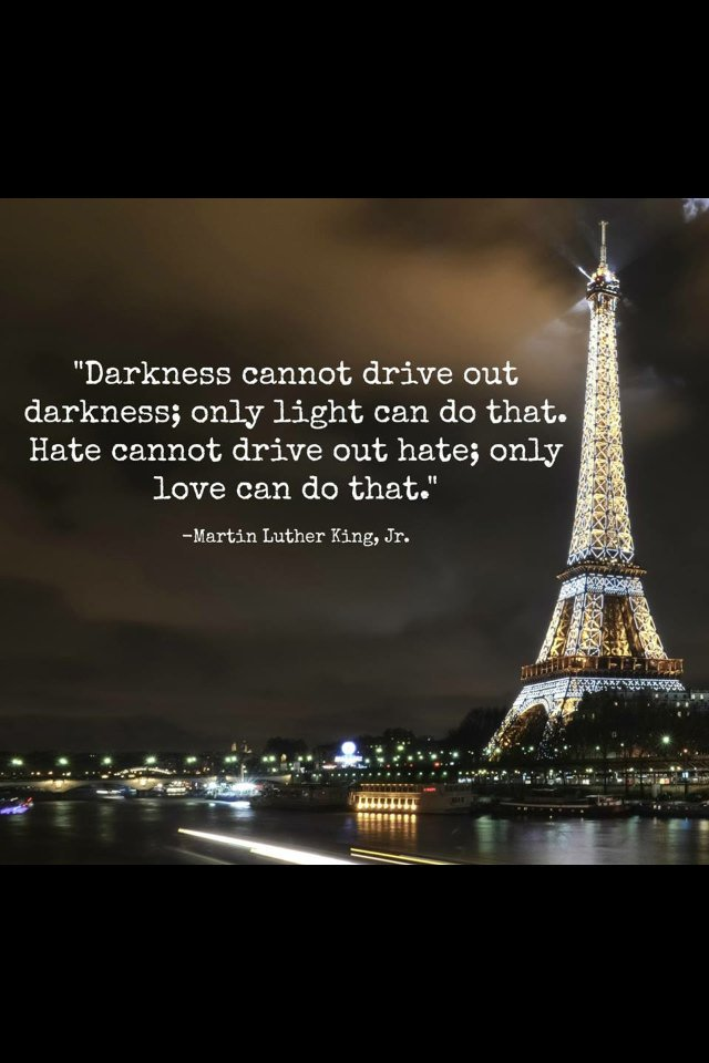 Too much evil in this world...my heart and thoughts are in #paris #standstrongparis https://t.co/LgxuYPihaU