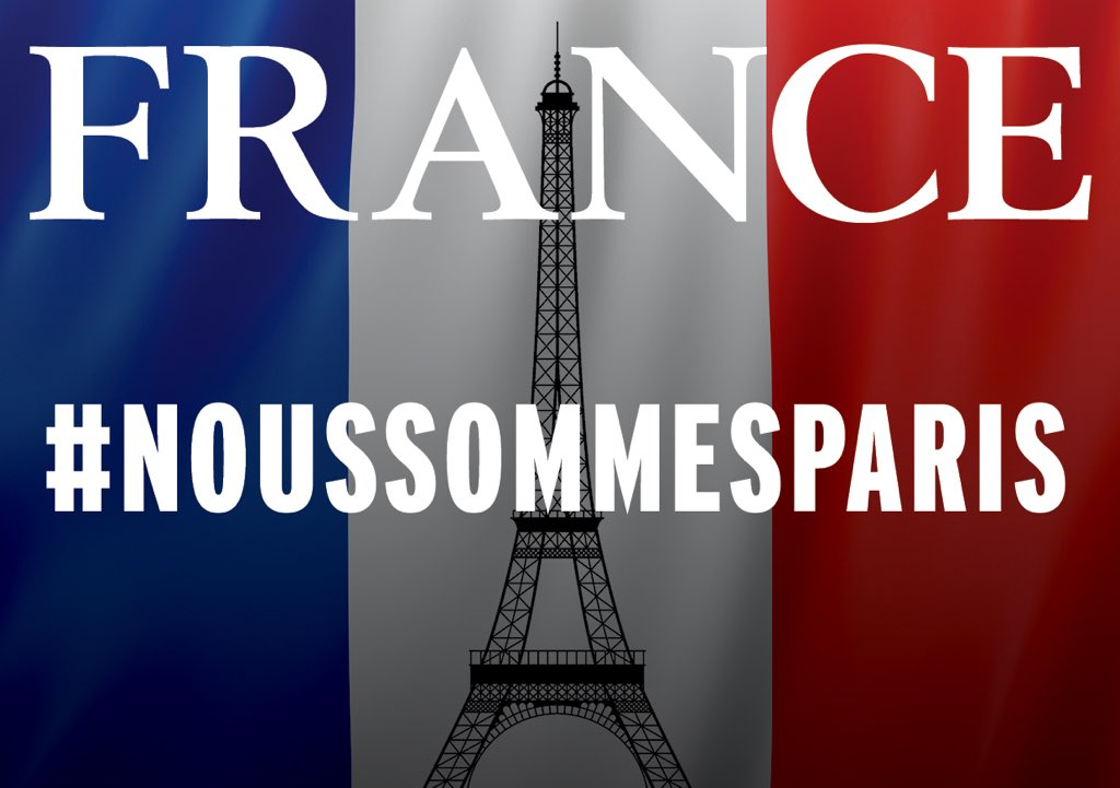 We stand In solidarity with our French friends and colleagues #ViveLaFrance #ParisAttacks #NousSommesParis https://t.co/HFH9sLXdU1