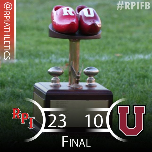 FB | It's a final in #shoes game. #d3fb #RPI #RPIFB @RPIFootball improves to 8-2 and are @LLAthletics Champs (co?)! https://t.co/gTUgC2AOFm