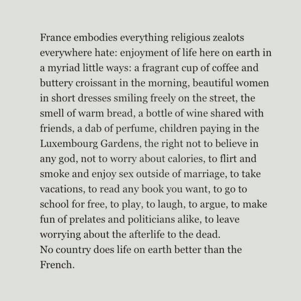 """No Country does life on earth better than The French"". Thank you @nyt #ParisAttacks #StayStrongFrance https://t.co/7jyzsE9llj"