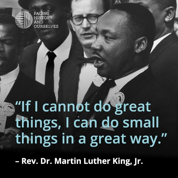 """If I cannot do great things, I can do small things in a great way."" - #MLK quotes #qotd https://t.co/fdiolGYWRf"