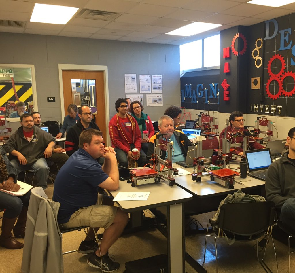 Replying to @1stmakerspace: 1st Maker Space Educator Training in progress! #3Dprinting #MakerSpace #1stMakerSpace