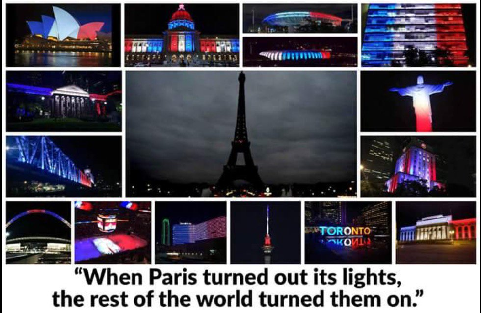 When Paris turned out its lights, the rest of the world turned them on.