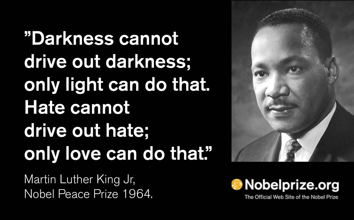 The Nobel Prize On Twitter Martin Luther King Jr Awarded The