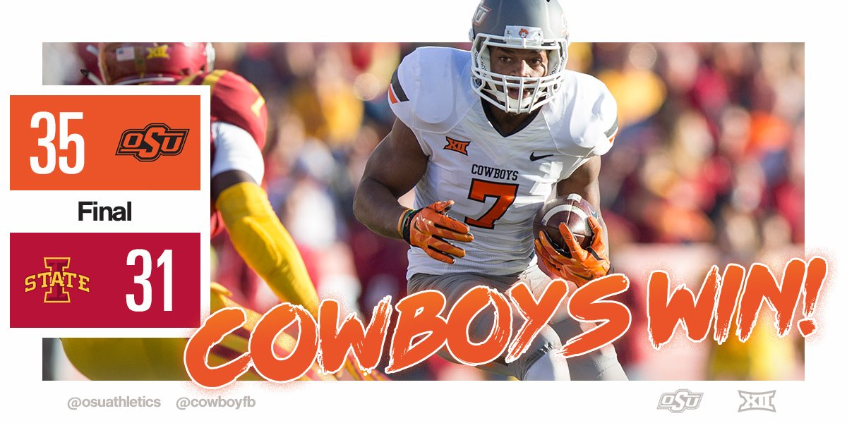 Hello, 10-0!  Cowboys come back from a 17-pt road deficit to win in Ames! #okstate https://t.co/cqUOnGBSjI