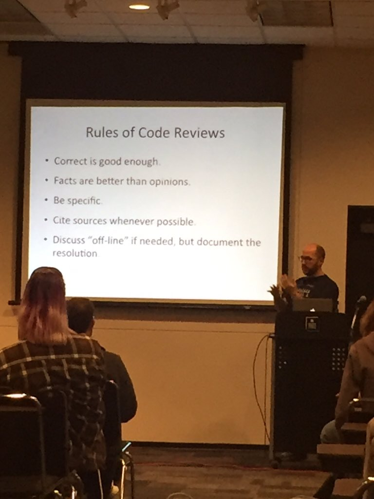 Really good advice for code reviews. #madisonphp https://t.co/AxNR10pz87