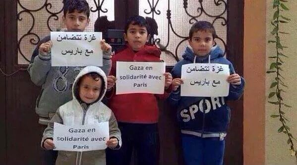 #Gaza supporting #Paris after #ParisAttacks despite being neglected by a silent blind careless world. https://t.co/wwpeAZ9Qob