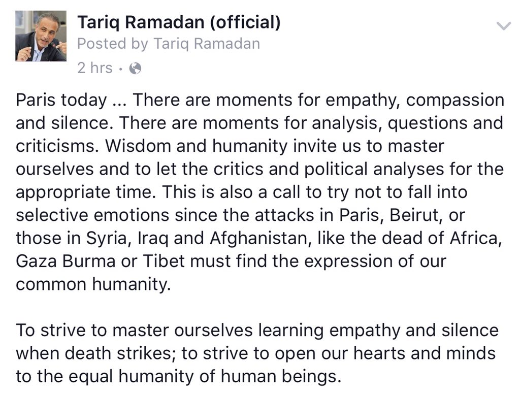 There are moments for empathy, compassion and silence... #ParisAttacks  #Beirut #ParisShooting #BeirutAttacks