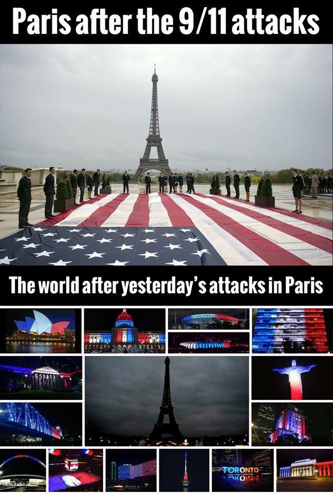 This picture speaks a thousand words! #Paris #ParisAttacks #PrayForParis ✌