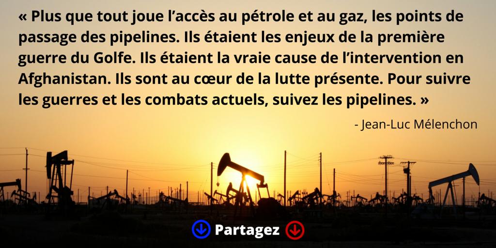 Pour suivre les guerres et les combats actuels, suivez les pipelines