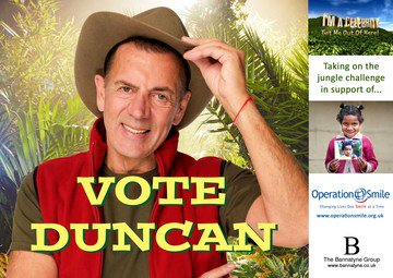 Keep voting; Duncan & download the poster to support him his friends appreciate the support https://t.co/lak5lO8imw https://t.co/SMcQZSoqWM