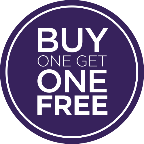 Buy 1 Get 1 Free Sales Signs