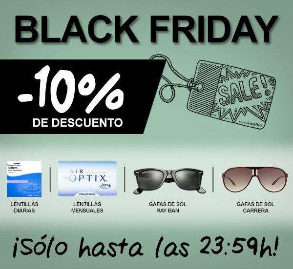 589f675fa741d  BlackFriday 10% de descuento en  lentillas y  gafasdesol  rayban y   carrera ¡sólo hoy! http   ow.ly V8bod pic.twitter.com tAXRLmQ7JH