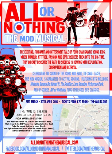 RT @AONthemusical: Coming to @thevaultsuk, April 2016, @AONthemusical, tickets available here: https://t.co/RSFAPKGcUV  #TheSmallFaces http…