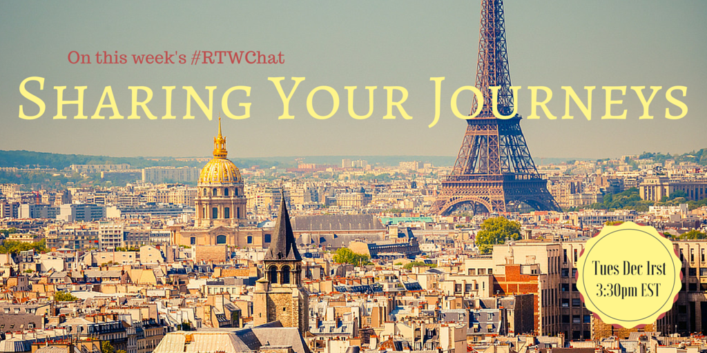 Come share your journeys with us on the next #RTWChat.  Tues @ 3:30pm EST  #tni https://t.co/zg8V2pxOZv