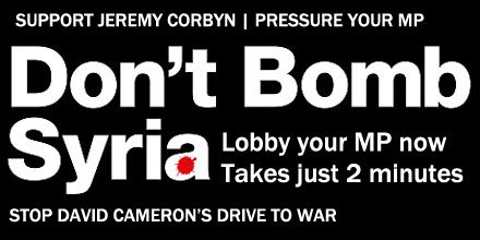 30,000 have used 2-minute lobby to tell their MP: DON'T BOMB SYRIA. Join them now https://t.co/FQToNW9Ivi https://t.co/zEJgwYw2yl
