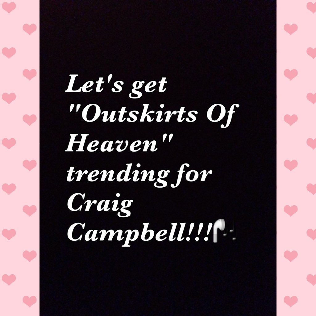 "Dear ""Posse"", @MerchinMojo wants us to get #OutskirtsOfHeaven trending! Soooo...lets do this for @craigcampbelltv https://t.co/LpILz2TxFn"