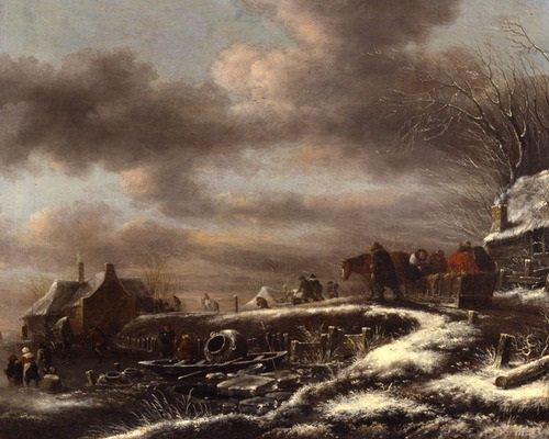 It's Day 1 of our #adventcalendar -  We start our Christmas countdown with 'Winter Landscape' by Claes Molenaer https://t.co/mSiiTSKIVg