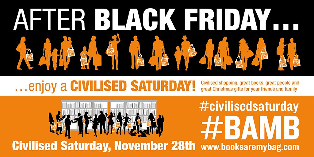 Where are you planning to celebrate #CivilisedSaturday? @booksaremybag #BlackFriday https://t.co/q2bSBm39eq
